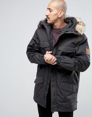 Fjallraven Серая зимняя куртка Singi. Цвет: серый