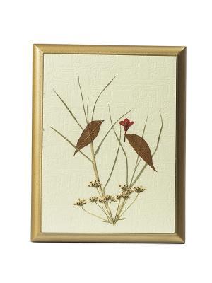 Картина - сувенир Гербарий Птички на дереве DEEPOT. Цвет: светло-бежевый