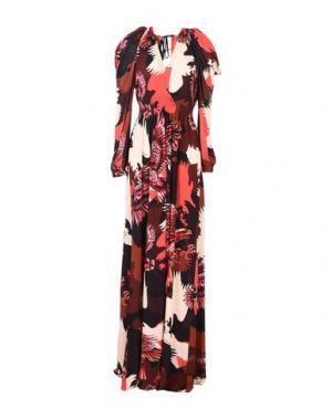 Длинное платье JUST CAVALLI. Цвет: красно-коричневый