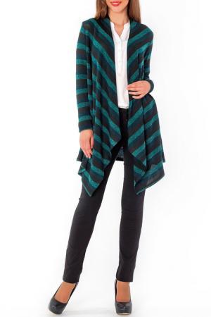 Кардиган S&A style. Цвет: зелено-черный