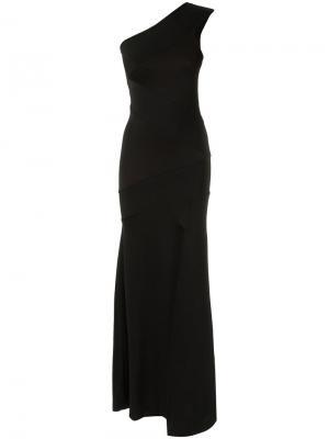 Asymmetric gown Cecilia Prado. Цвет: чёрный