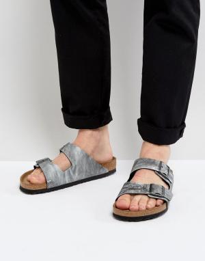 Birkenstock Серые сандалии в джинсовом стиле. Цвет: серый