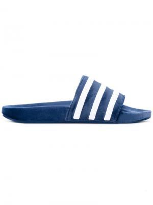 Шлепанцы Adilette Adidas Originals. Цвет: синий