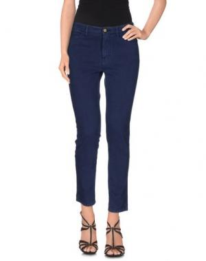 Джинсовые брюки JECKERSON. Цвет: темно-синий