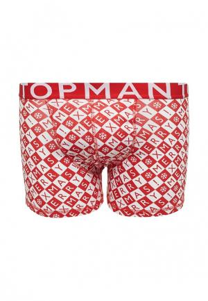 Трусы Topman. Цвет: красный