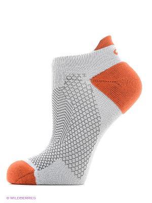 Носки COOLING ST SOCK ASICS. Цвет: светло-серый, оранжевый