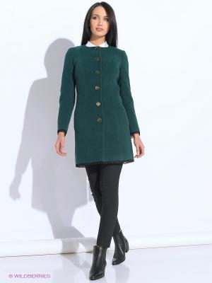 Пальто Colambetta. Цвет: зеленый