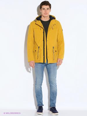 Куртка COLD WIND IS MIRAGE. Цвет: горчичный