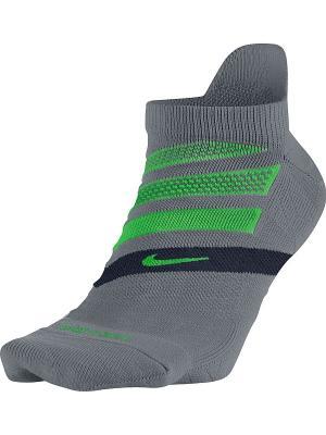 Носки U NK PERF CUSH NS-RN Nike. Цвет: серый, зеленый