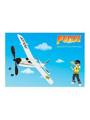 Самолет Полиция Blue Sea. Цвет: белый