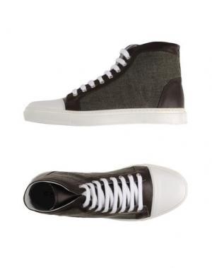 Высокие кеды и кроссовки EXIBIT. Цвет: стальной серый
