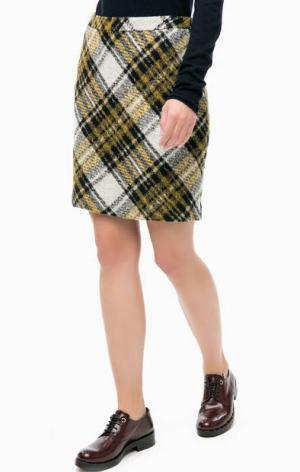 Короткая юбка в клетку MORE &. Цвет: серый