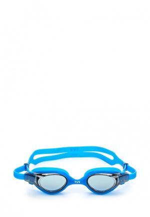 Очки для плавания TYR. Цвет: синий