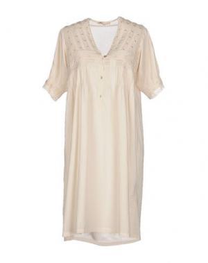 Короткое платье LOCAL APPAREL. Цвет: бежевый