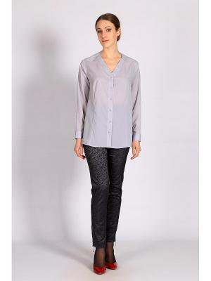 Блузка FLEURETTA. Цвет: серый