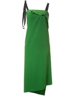 Платье с оборками Rejina Pyo. Цвет: зелёный