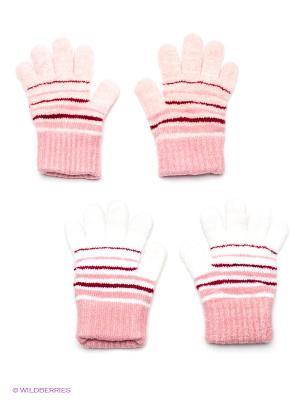 Перчатки, 2 пары FOMAS. Цвет: бордовый, белый, розовый