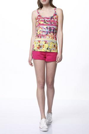 Комплект с шортами Relax Mode. Цвет: фуксия