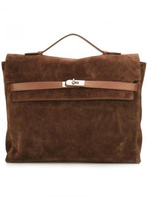 Портфель с поворачивающимся замком Eleventy. Цвет: коричневый