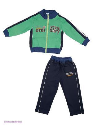 Спортивный костюм DAMY-M. Цвет: темно-синий, зеленый