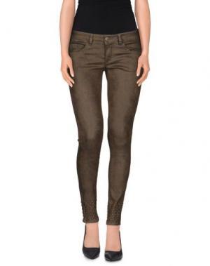 Джинсовые брюки STUDS WAR. Цвет: зеленый-милитари