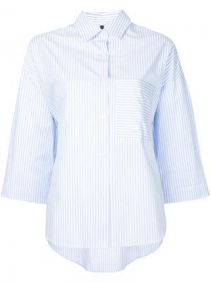 Полосатая рубашка кроя оверсайз Nobody Denim. Цвет: синий