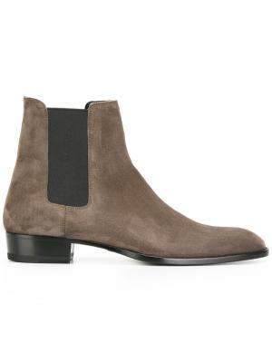 Ботинки челси Saint Laurent. Цвет: серый
