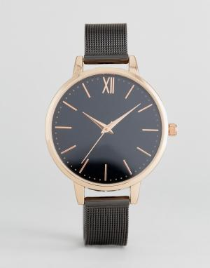 New Look Часы с сетчатым браслетом. Цвет: мульти