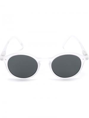 Солнцезащитные очки в круглой оправе See Concept. Цвет: белый