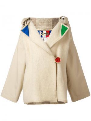 Куртка с капюшоном и декоративной отделкой Jc De Castelbajac Vintage. Цвет: телесный