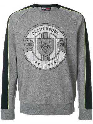 Толстовка с принтом логотипа Plein Sport. Цвет: серый