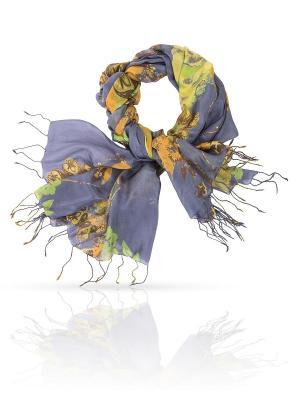 Палантин MICHEL KATANA`. Цвет: серо-зеленый, серо-голубой, темно-коричневый