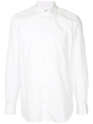 Классическая рубашка Estnation. Цвет: белый