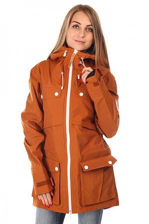 Куртка женская Colour Wear Lynx Jacket Adobe CLWR. Цвет: коричневый