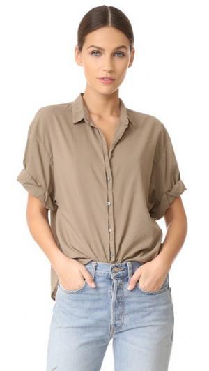 Блуза на пуговицах Chance с короткими рукавами XIRENA. Цвет: мох