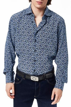 Рубашка Billionaire. Цвет: синий