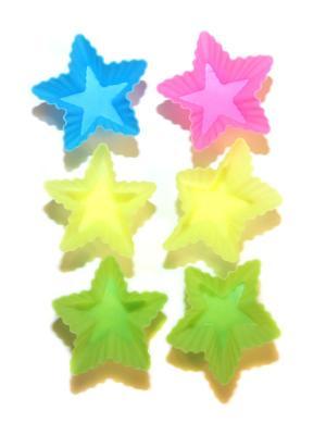 Силиконовые формы для маффинов, 6 шт DiMi. Цвет: зеленый, голубой