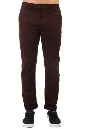 Штаны прямые  Surfpant Chocolate Quiksilver. Цвет: коричневый