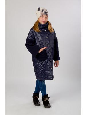 Стеганое пальто MARIELA. Цвет: темно-синий