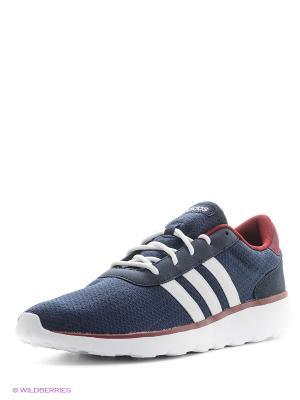 Кроссовки Lite Racer Adidas. Цвет: темно-синий, темно-бордовый, белый