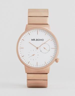 Mr Boho Золотисто-розовые матовые часы. Цвет: золотой