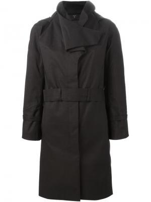 Пальто с широким воротником Norwegian Rain. Цвет: чёрный