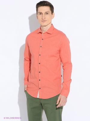 Рубашка Men of all nations. Цвет: оранжевый