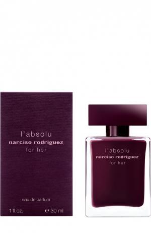 Парфюмерная вода For Her Absolu Narciso Rodriguez. Цвет: бесцветный