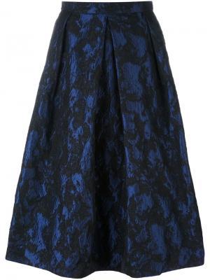 Широкая юбка с жаккардовым узором Perseverance London. Цвет: синий