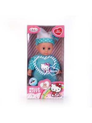 Пупс Карапуз Hello Kitty 18см, мягкое тело, закрываются глазки, озвученный.. Цвет: голубой,белый