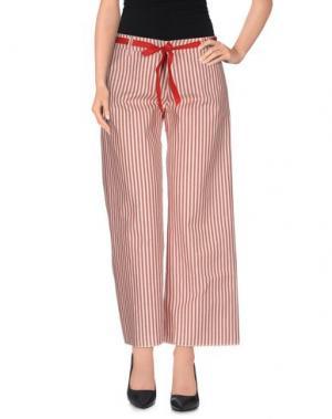 Повседневные брюки PEACOCK BLUE. Цвет: красно-коричневый