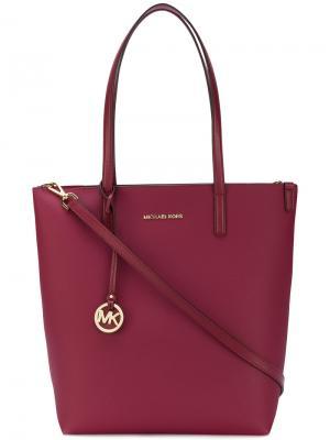 Большая сумка-тоут Hayley Michael Kors. Цвет: красный