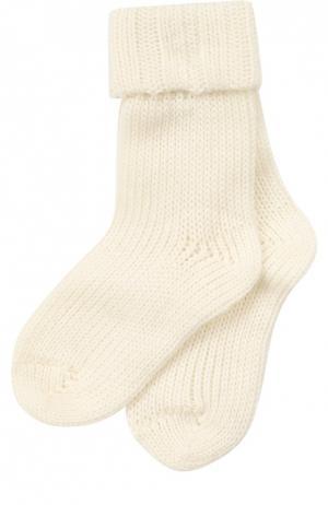 Вязаные носки Falke. Цвет: кремовый