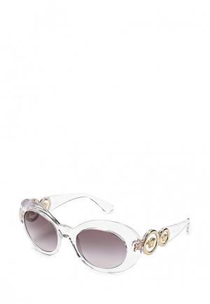 Очки солнцезащитные Versace. Цвет: прозрачный